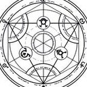 Yet another great image I found, via Ask.com.  It is a Transmutation Circle.