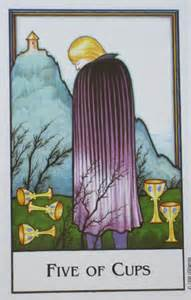 "The Five of Cups, from ""The New Palladini Tarot,"" by David Palladini."