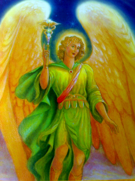 A gorgeous image of Archangel Raphael by Marius Michael-George.