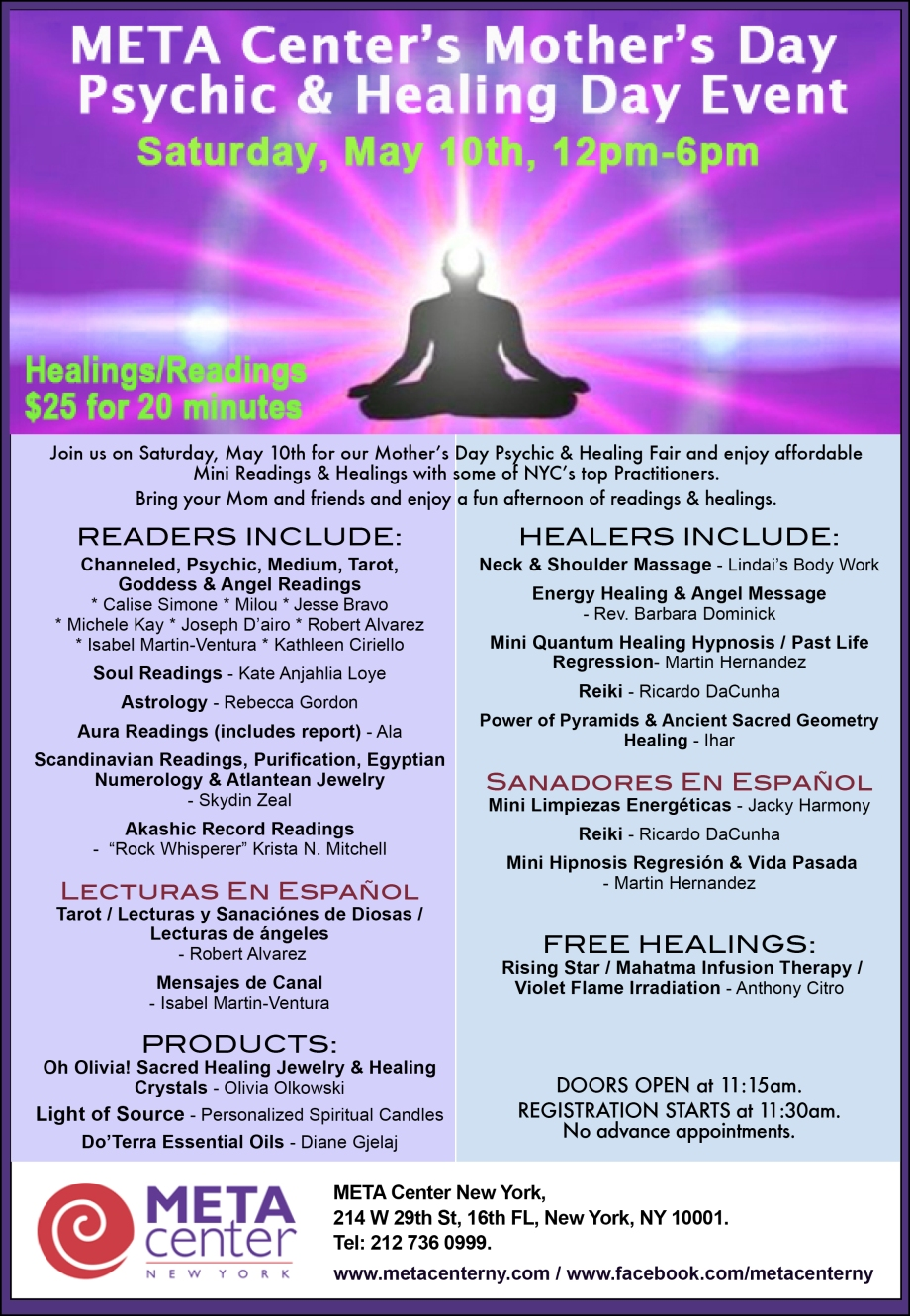 May 2014 Psychic Fair Flyer