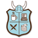 The official NaBloPoMo crest (makes me feel like a Viking; or at least, like calling upon Woden!)