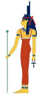 "One of my favorite images of my Celestial Mother, Auset, the Ancient Egyptian Goddess more commonly known as Isis, depicts Her Sacred Hieroglyph atop Her Head.  Her Name means ""Throne."""