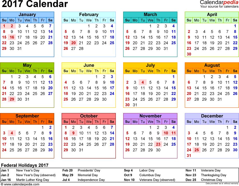 2017-calendar-template